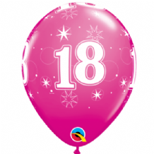 18 Sparkle Pink - 11 Inch Balloons 25pcs